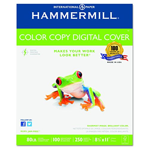 Hammermill Color Copy Cover Paper (Hammermill Paper, Color Copy Digital Cover, 80lb, 8.5 x 11, Letter, 100 Bright, 250 Sheets / 1 Pack (120023R), Made In The USA)