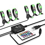 AVAWO 5050 USB LED Strip Kit for TV Computer PC - DIY Flexible Adhesive Back Tape + 24 Remote Control for HDTV Monitor Computer PC etc. Decoration Multi-color Changing USB Powered LED Light