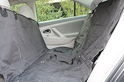 Pet Car Seat Cover Auto Back Rear Seat Barrier, Quilted Waterproof Hammock Style Car Seat Cover for Dogs and Cats. Free: 2 Pet Seat Belts