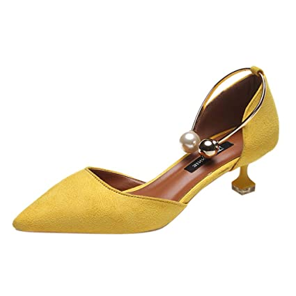 hot sale online 6d2aa ee597 Dressin Women s Sandals, Ladies Casual Ankle Loafers Shoes Summer Fashion  Flats with Pearl Ring
