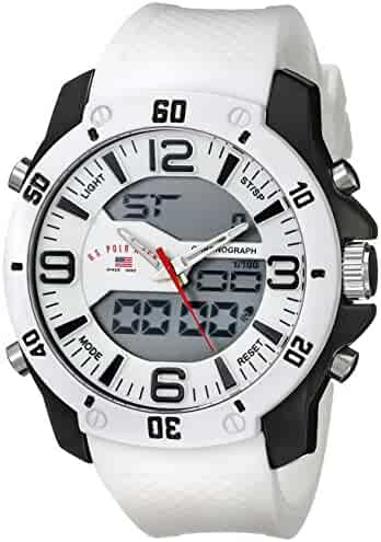 U.S. Polo Assn. Sport Men's US9471 Analog-Digital White Watch