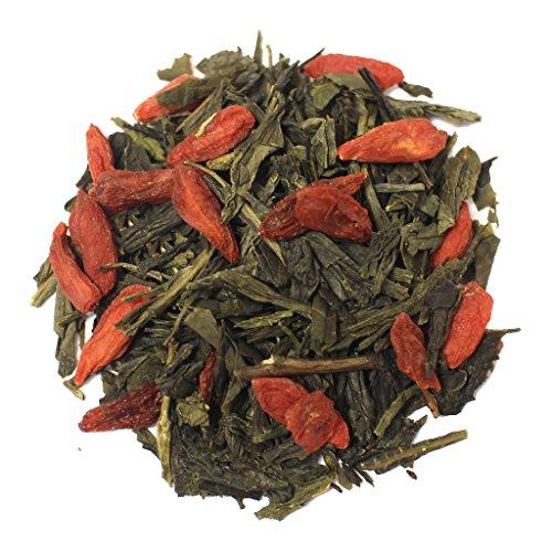 The Tea Farm - Goji Ginseng Green Tea - Loose Leaf Green Tea (8 Ounce Bag)