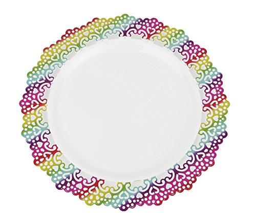 Premium Decorative Plastic Dinnerware Plates - 9