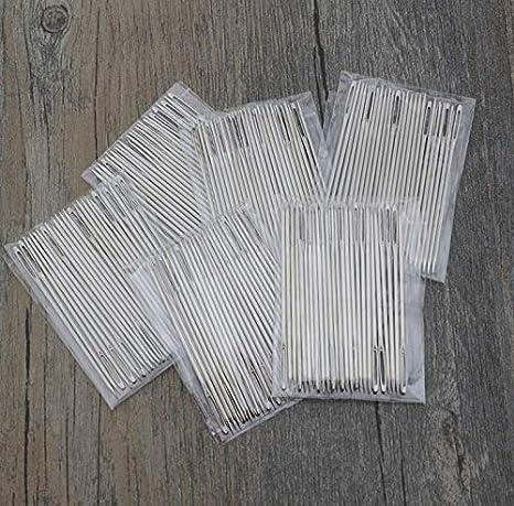 2 3//4 Large Eye Needles,Kids Safety Learning Needles for DIY Sewing Handmade Crafts,Kid Weave Education 100 Pcs Large Eye Stitching Needles,Big Eye Hand Sewing Needles,Ebroidery Needles,Blunt Tip