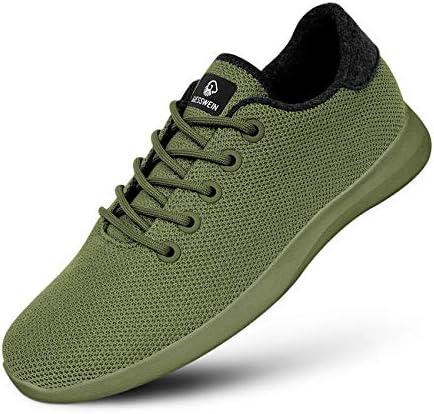 GIESSWEIN Merino Wool Knit Men – Zapatillas transpirables para hombre de 100% lana merino, calzado deportivo descalzado, zapatos de ocio, zapatos para