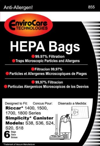 PAPER BAG, 1400 1500 1700 CINCH WHITE HEPA H 6PK
