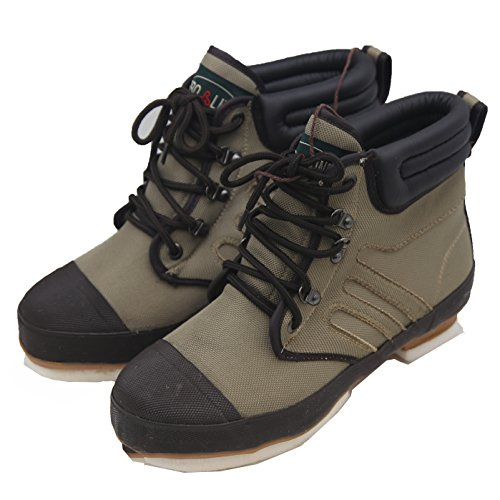 Pro Line Wading Boots (Pro Line Men's 52503 Canvas Wading Boots with Rubber Outsole, 12 Khaki US)