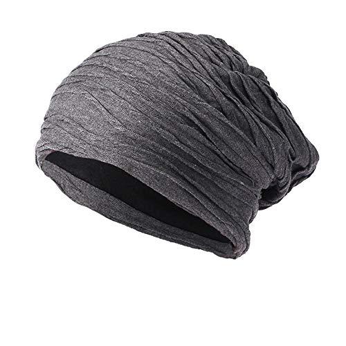 - HGWXX7 Unisex Men Women Slouchy Baggy Crochet Wool Knit Ski Hat Skullies Beanie Caps(One Size,Gray)