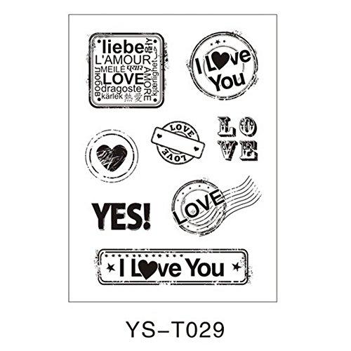 Julyshop Transparent Clear Rubber Stamp Alphabet Flower Sheet Cling for Scrapbook Seal DIY (29#)