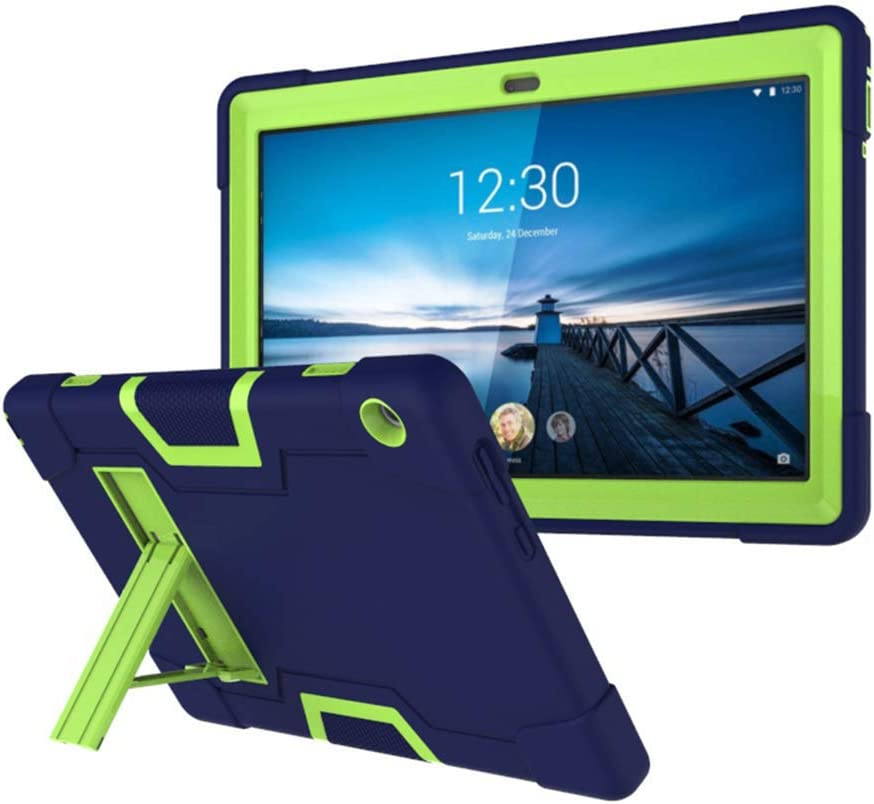 Koolbei Case for Lenovo Tab M10 10.1 Case, Heavy-Duty Drop-Proof and Shock-Resistant Rugged Hybrid case(with Built-in Stand), for Lenovo Tab M10 TB-X605F 10.1