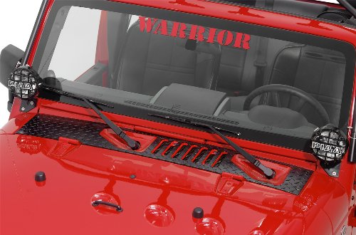 Warrior Products 920EPC Powder Coated Finish Center Cowling Cover for Jeep JK and Unlimited 07-10