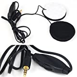 SODIAL(R) Hot 3.5mm Motorcycle Helmet Speaker Headphones with Volume Control + Extension Cable