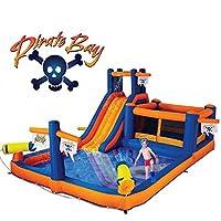 Parque acuático combinado inflable Pirate Bay de Blast Zone y rebote de Blast Zone