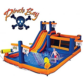 Genial Blast Zone Pirate Bay Inflatable Combo Water Park And Bounce