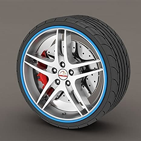 Rimblades Llantas De Aleación Borde Ring Protectores De Llanta Neumáticos Llanta Protección Caucho Moldura - Azul Rimblades: Amazon.es: Coche y moto