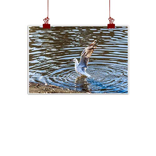- duommhome Modern Frameless Painting Bird Bath Natural Art 28