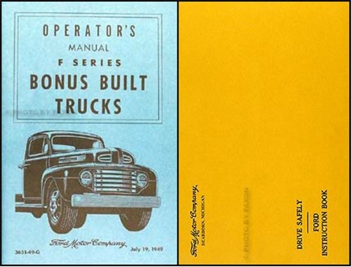 1949 Ford Pickup and Truck Owner's Manual Reprint