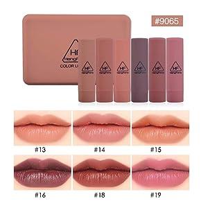 Matte Lipstick Gift Set, Spdoo 6 Colors Long Lasting Waterproof Velvet Pigmented Lip Stick Stain, Pefect Present for Girls Friends Mom (#9065)