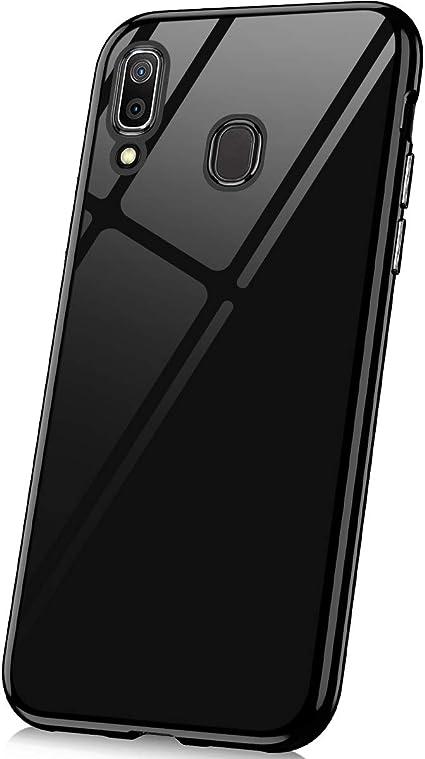 JAWSEU Funda Transparente Compatible con Samsung Galaxy A20/A30 ...