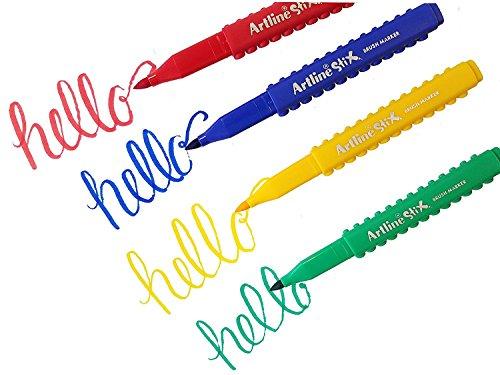 Art Line Uae : Artline stix brush markers assorted color set of buy