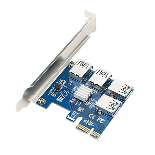 Linkstyle 4 In 1 Pci E Riser Adapter Board  Pci E Riser Extender Usb3 0 Pci E Rabbet  Ethereum Mining Eth For Bitcoin Litecoin Eth Coin