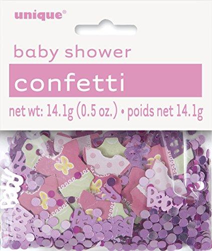 Pink Polka Dot Girl Baby Shower Confetti