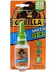 Gorilla Super Glue Gel, 20 Gram, Clear, (Pack of 1)