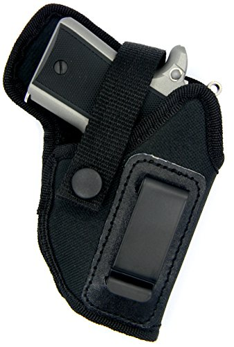 [Dual-Function OWB Belt Slide or Concealment IWB Clip-On Holster with Body Shield for RUGER LCP 380, KEL-TEC P-3AT 380, P-32] (Concealment Belt Slide Holster)