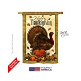 Breeze Decor H113049 Turkey Fall Thanksgiving Vertical House Flag, 28″ x 40″, Multi-Color