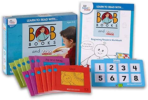 Learn to Read with. Bob Books and Versatiles - Beginning Readers Set with 12 Bob Books, Answer Case, and Workbook (Ages 3-6) | Level 1 Reading Books for Children