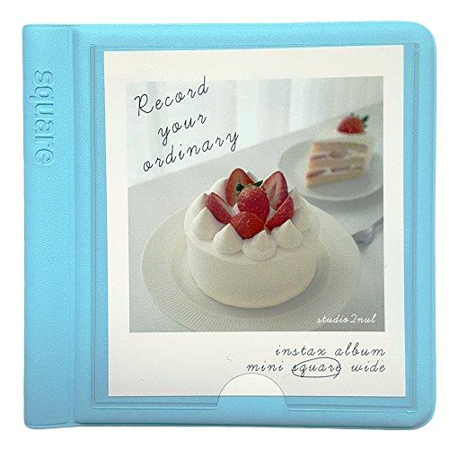 Fujifilm Instax Square Instant Film Album Polaroid Square Photo Album 29Pockets Blue