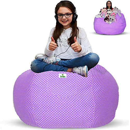 kroco extra large stuffed animal storage bean bag chair cover