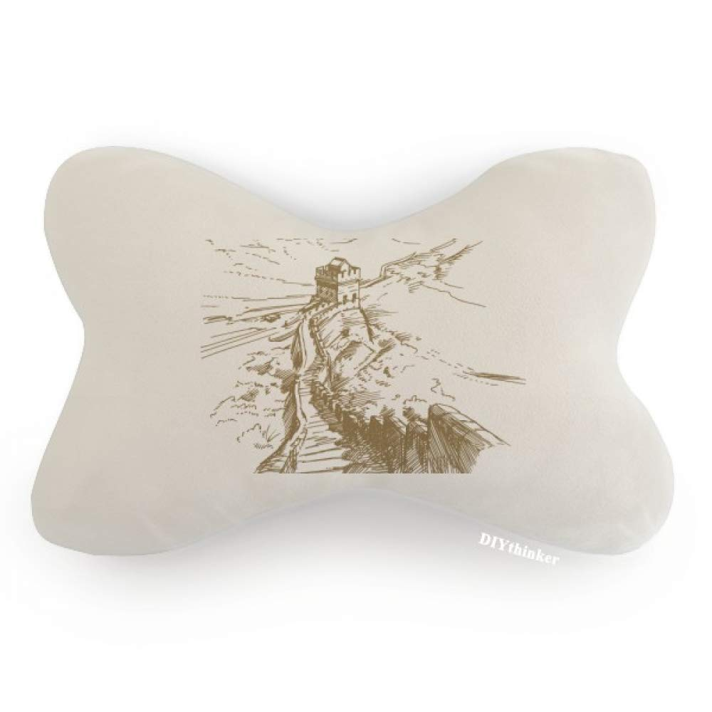 DIYthinker The Great Wall China Landmark Sketch Car Neck Pillow Headrest Support Cushion Pad