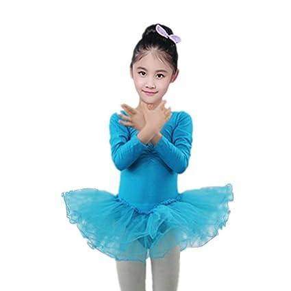 063062bdc danza niña, Sannysis falda danza maillot danza Chicas Gasa Leotardos ...