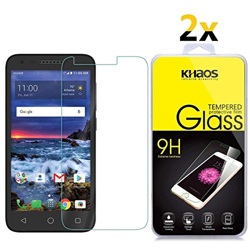 - [2-Pack] Screen Protector for Alcatel Verso, KHAOS Tempered Glass Screen Protector Ultra Clear Scratch Resistant for Alcatel Verso