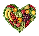 Wallmonkeys Heart of Fruits and Vegetables Peel and Stick Wall Decals WM349365 (18 in W x 17 in H)