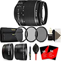 Canon EF-S 18-55mm f/3.5-5.6 IS II Lens with 58mm Macro Filter Ultimate Accessory Kit for Canon Rebel T5 T6 T5i T6i T6s 70D 80D 77D