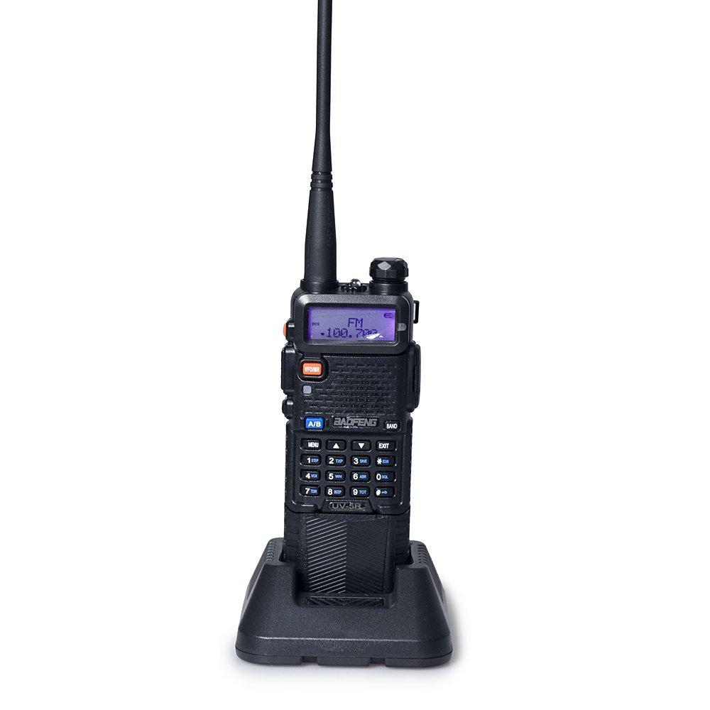 BAOFENG UV-5R Upgrade Version 3800mAh Battery Two Way Radio (Black)