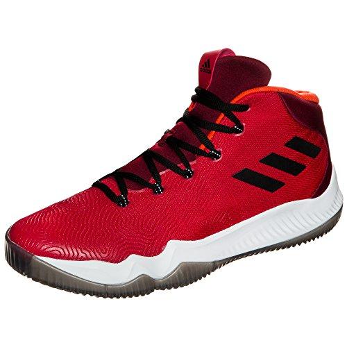 Adidas Crazy Hustle, Chaussures de Basketball Homme, Rouge (Escarl/Negbas/Buruni), 51 EU