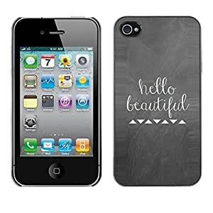 Soft Silicone Rubber Case Hard Cover Protective Accessory Compatible with Apple iPhone? 4 & 4S - quote white love girlfriend