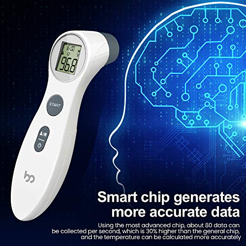 Touchless Forehead Thermometer for Adults,Kids and Babies, Digital Instant Accurate Reading Forehead Thermometer with LCD Display for Whole Family[US in Stock]]