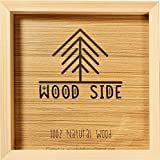 Wooden Square Picture Frame 12x12 Inch - 100% Eco Unfinished Wood with Thick Borders - Natural Wood Color for Wall Mounting Photo Frame