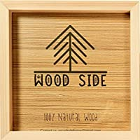Wooden Square Picture Frame 12x12 Inch - 100% Eco Unfinished Wood with Thick Borders...
