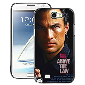 Snap-on Series Teléfono Carcasa Funda Case Caso para Samsung Note 2 N7100 , ( Above The Law- Seagal )