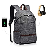 Laptop Backpack Anti Theft with USB Charging Port Fashionable College School Bookbag Water Resistant Slim for Women & Men Fits 15.6 Inch Laptop and Notebook