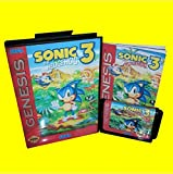 Taka Co 16 Bit Sega MD Game Sonic the hedgehog 3 With Box And Manual 16bit MD Game Card For Sega Mega Drive For Genesis