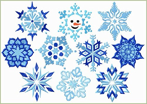 ThreaDelight ABC Machine Embroidery Designs Set on the CD Snowflakes - 10 Designs, 4