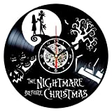 Queen Clocks Nightmare Before Christmas Clock - Vinyl Record Wall Art - Jack and Sally Decor - Gift for Women