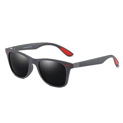 Aclth Retro Gentleman Style TR90 Gafas de Sol de Marco Completo para Hombres Durable protección polarizada