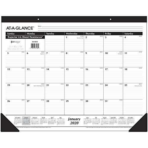 AT-A-GLANCE 2020 Desk Calendar, Desk Pad, 21-3/4
